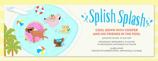 Free Pool Party Invitations Evitecom