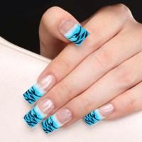 Pin Glitter-french-tip-acrylic-nails-nail-art-photos on ...