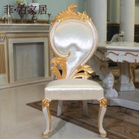 Luxury italian style dining chairs solid wood hand carved ...