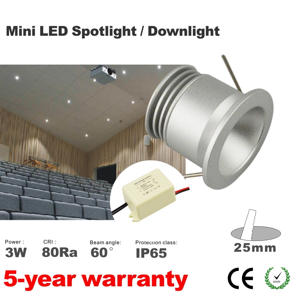 Spot Led Hot Sale 3w Led Light Mini Spot Lamp 12v Led Indoor Outdoor Spot Lighting 60 Degree 25mm Cut Out With Mini 12vdc Ac