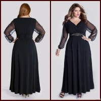 Plus Size Evening Long Dresses With Sleeves - Wedding ...