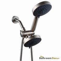 Bathroom 5 Setting Shower Head Double Handheld Shower Head ...