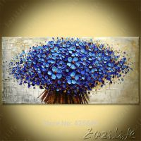 Wall Painting Flower Hand Painted palette knife 3D texture ...