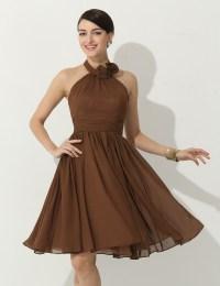 Popular Short Brown Bridesmaid Dresses