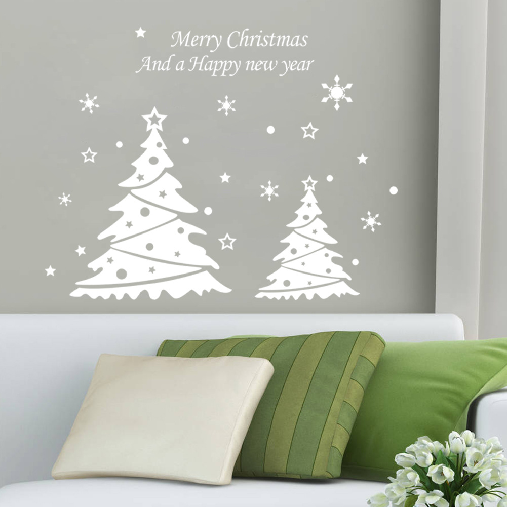 xmas wall stickers home decor family christmas tree window wall quote vinyl tree wall decal wall decal depot modern wall decals