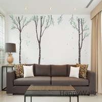 Birch Tree Wall Sticker Family Tree Wall Decal DIY Large ...