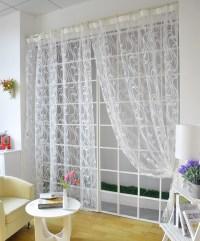 Modern-style-simple-design-striped-jacquard-windown-tulle ...