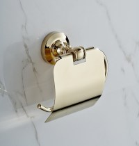 Gold Plated Toilet Paper Holder