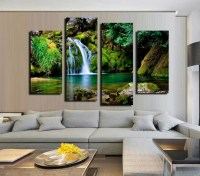 Aliexpress.com : Buy 4 Panel Waterfall and Green Lake ...