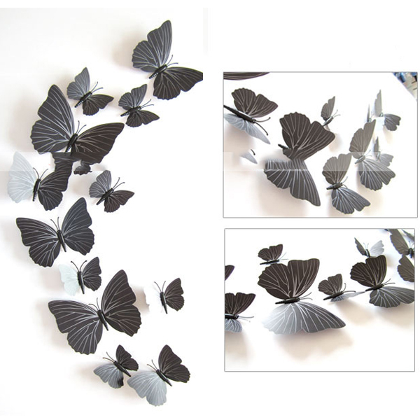 wall decals black white rose color home decors wall sticker wall black butterfly wall decals beautiful vinyl butterfly wall allpiques
