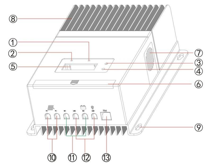 mppt solar charge regulator controller