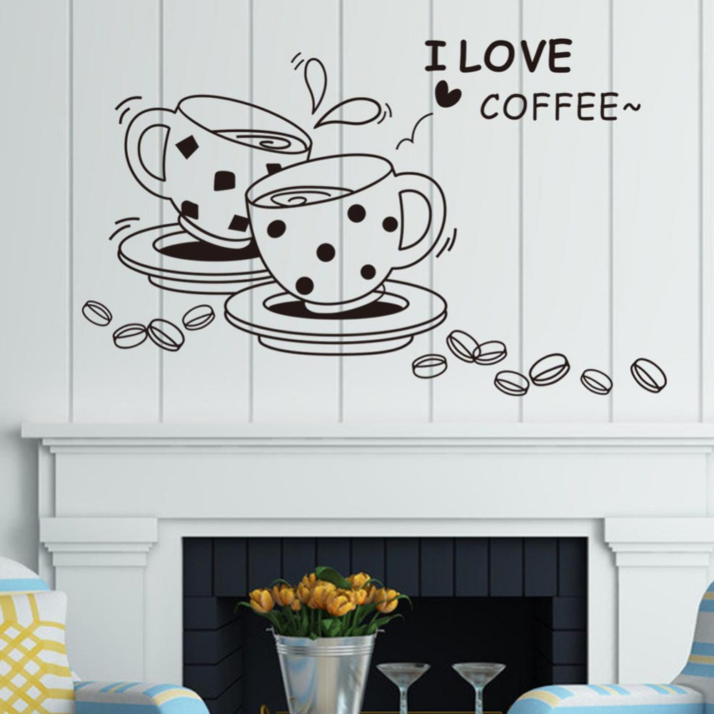 coffee wall sticker restaurant home kitchen decoration wall stickers wall sticker decor beautiful wall sticker decoration