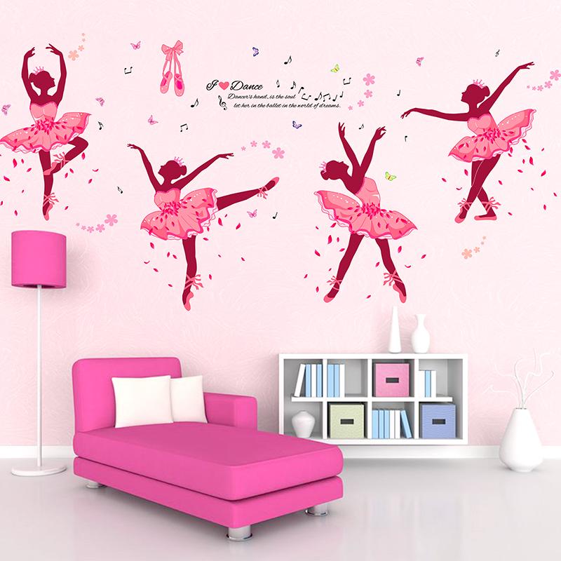 diy wall decor ballet girls art wall stickers kids rooms home pics photos wall decals girls room stickers princess flower
