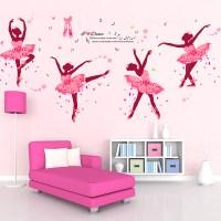 DIY Wall Decor Ballet Girls Art Wall Stickers For Kids ...