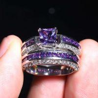 Popular Platinum Amethyst Ring-Buy Cheap Platinum Amethyst ...
