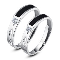 Fashion His Hers Rings Couples Promise Rings Ajustable ...
