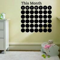 new Calendar blackboard stickers Office Teaching Hoom Wall ...
