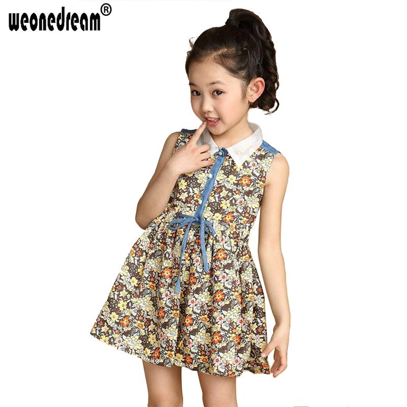 2017 Summer Kids Vest Dress Size 4T 14 Princess Girls