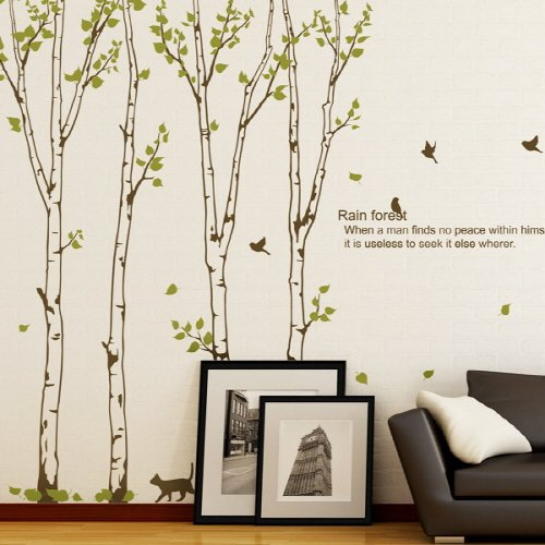 birch wall stickers large birds trees wall stickers large forest wall large wall decals circus large wall decals stickers appliques home