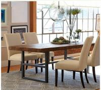 Retro do the old American Iron wood tables and chairs long ...