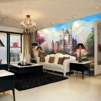European-style wallpaper living room bedroom TV backdrop ...