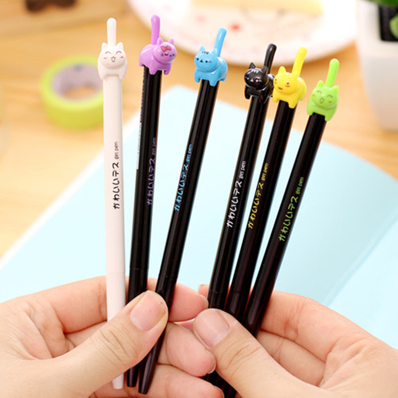 China Pen Suppliers Aliexpress Buy 8 Pcs Lot Cute Kitties Black Ink Gel