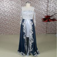 RSE650 High Low Silver Grey Lace Navy Blue Mother Of The ...