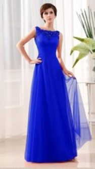Vestido de formatura Aliexpress azul longo