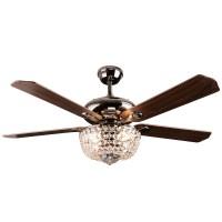 Crystal ceiling fan light rustic ceiling fan light SF60 ...