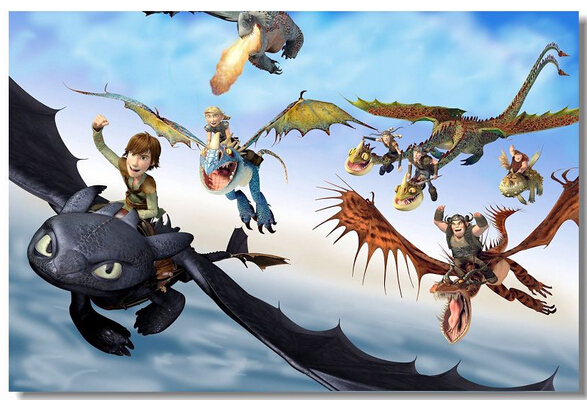 train dragon custom wallpaper home decoration hd wall sticker train dragon wall decals train dragon wall