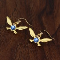 2 colors The Legend of Zelda Earring gold/silver Triforce ...