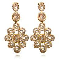 Super Nice Flower Women Drop CZ Earrings Setting 466PCS ...