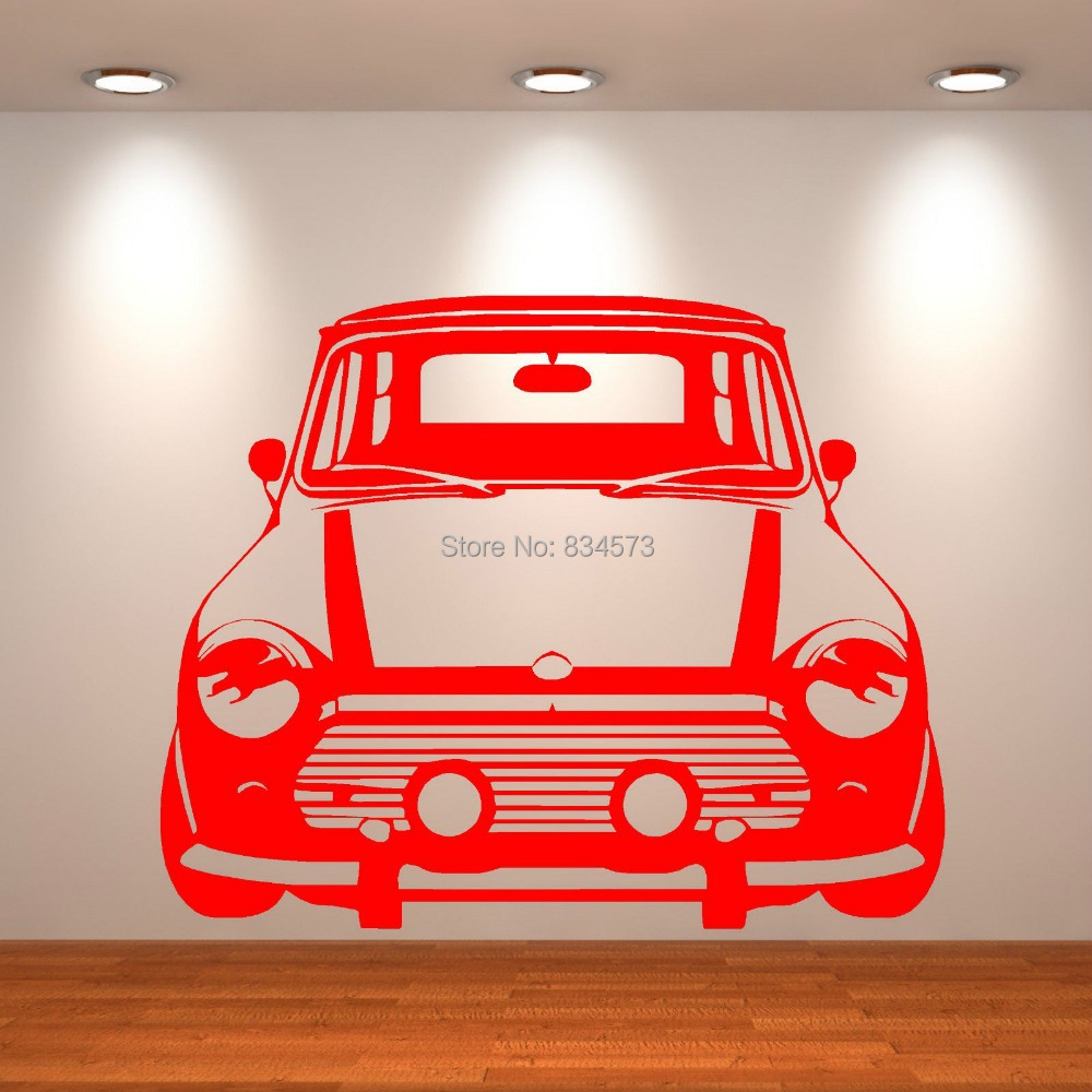 mini cooper wall art stickers decal diy home decoration wall mural lounge ornament sticker wall art mural decal windsor designers
