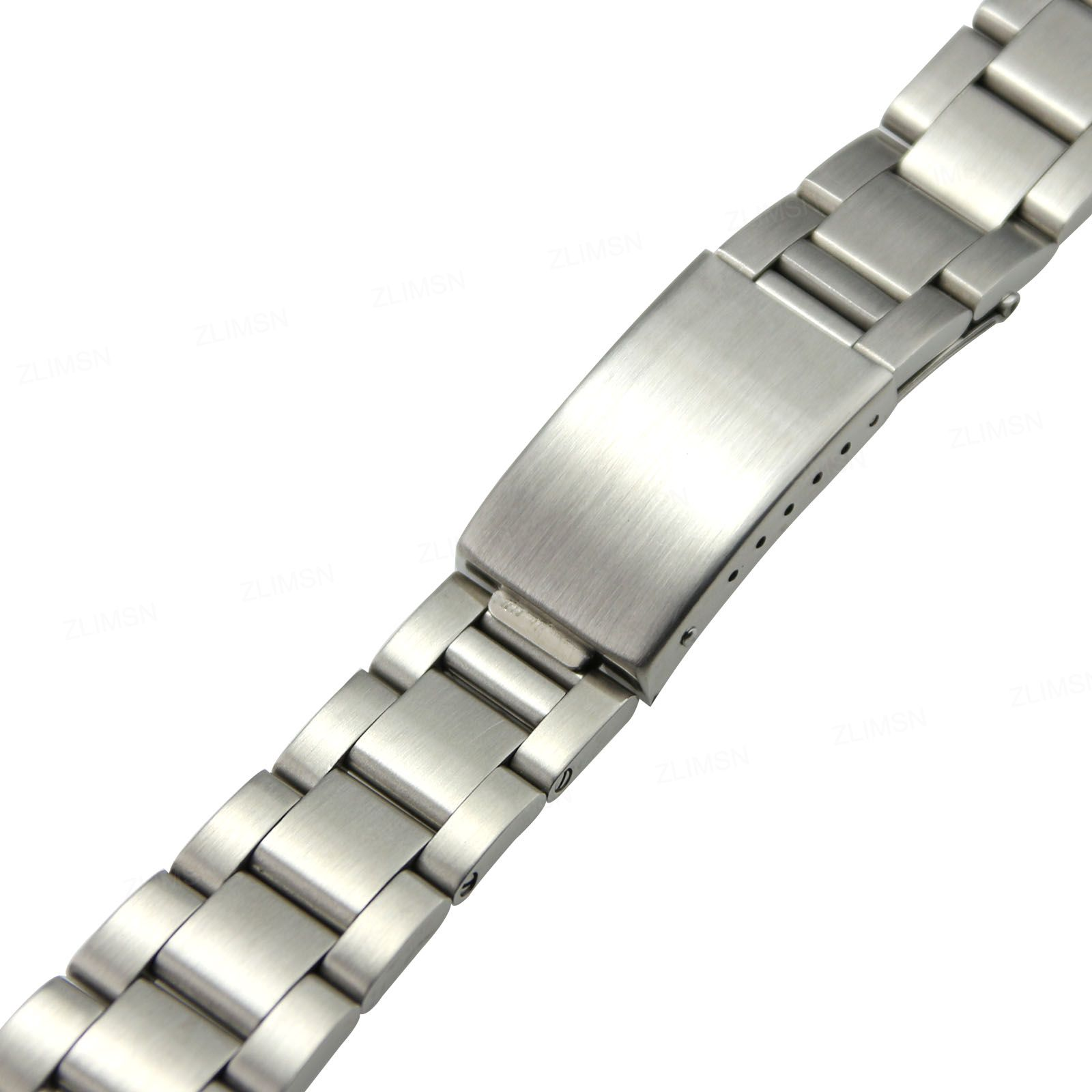 High End Stainless Steel Flatware Zlimsn Stainless Steel Watchbands Replacement Silver 18mm