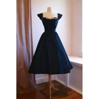 Popular Navy Blue Tea Length Dress-Buy Cheap Navy Blue Tea ...