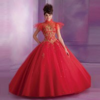 Aliexpress.com : Buy New Stylish Appliques Red Quinceanera ...