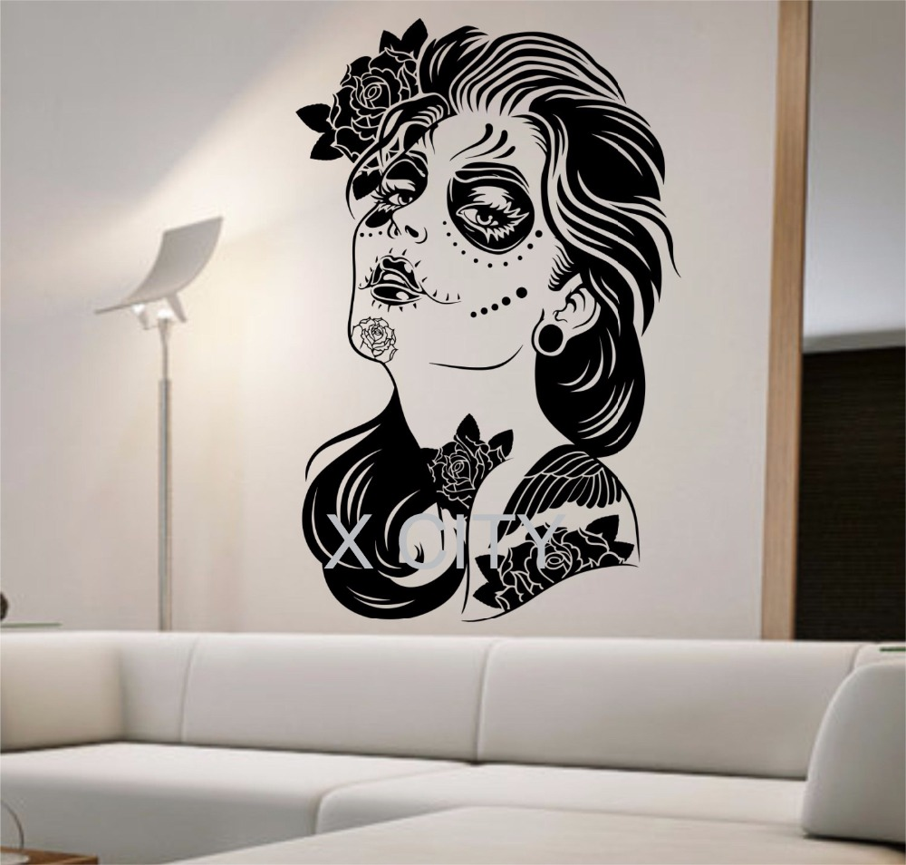 dead sugar skull wall decal letters wall colors soccer wall custom wall stickers wall art quotes designs gemma duffy