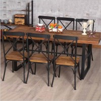 Cheap American country retro wood furniture, wrought iron ...