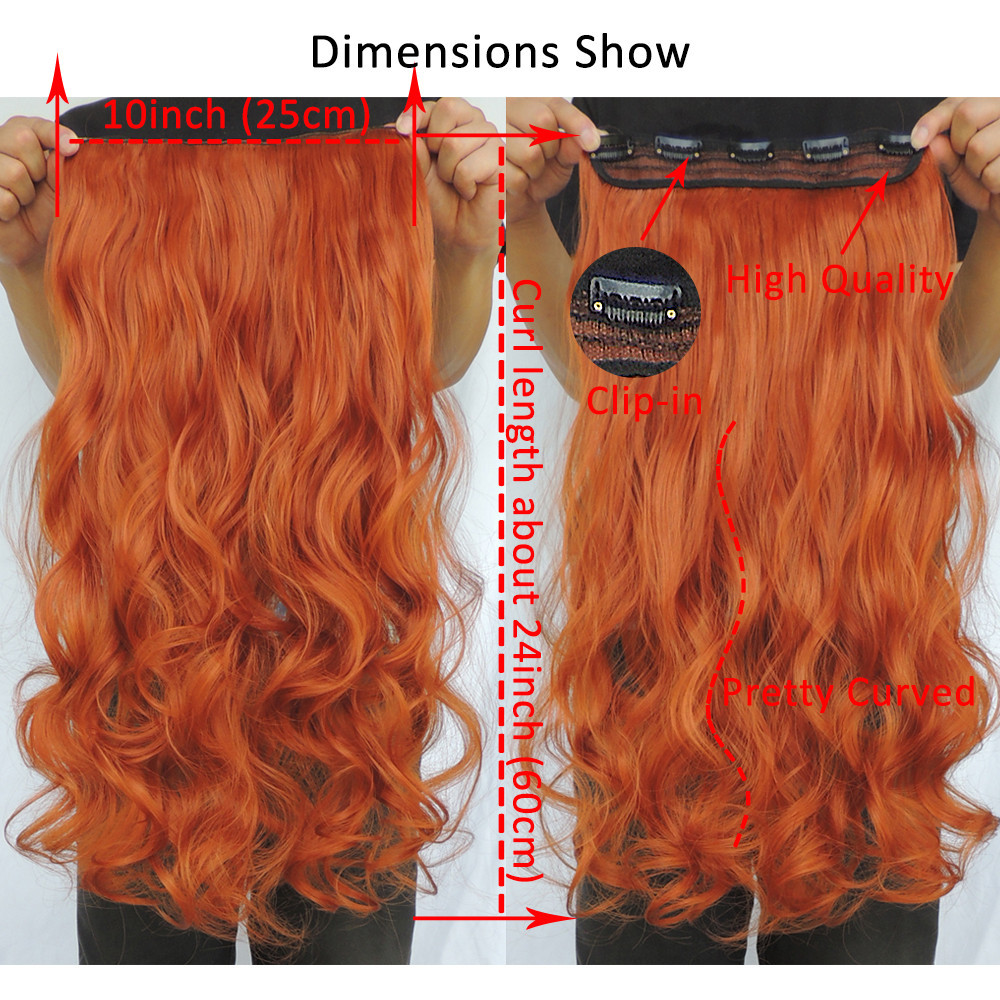 Image Gallery Orange Curly Hair Extensions