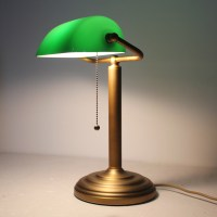 Full Copper brass Bankers table lamp desk light vintage