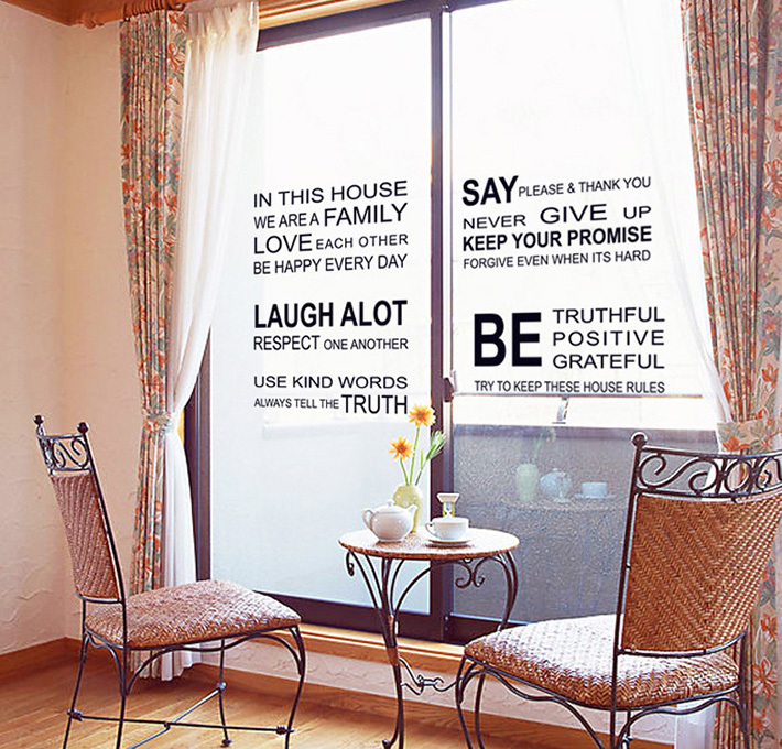 sale house rules large wall stickers home decor diy poster vinyl quote sale wall sticker commercial window wall stickers christmas