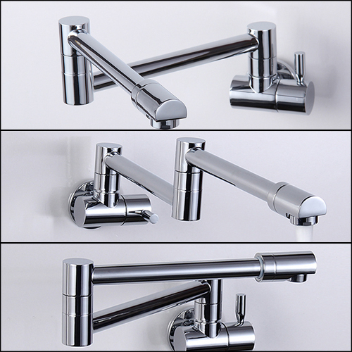 Out Door Kitchen wall tap Picture - More Detailed Picture about Folding Copper Sink Chrome Wall Mount Kitchen ...