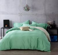 Mint green solid color bedding sets egyptian cotton king ...