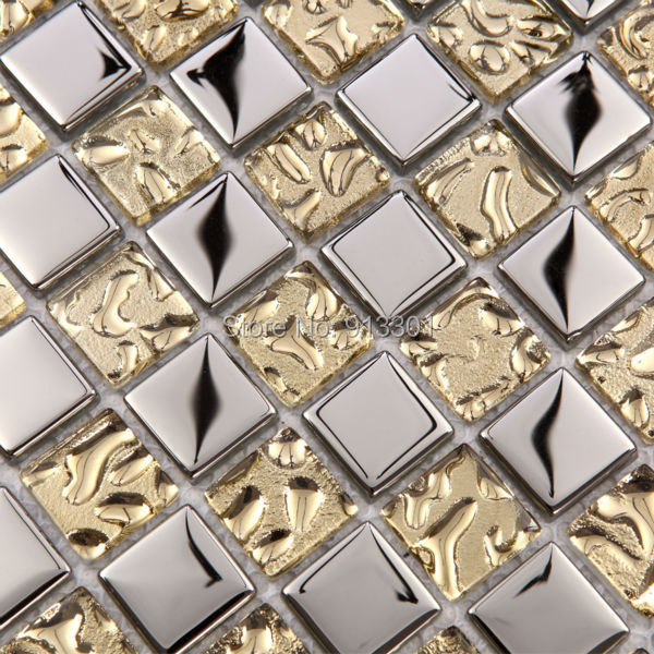 glass mosaic cheap kitchen backsplash stickers gold crystal glass peel stick mosaic tiles kitchen bathroom backsplashes