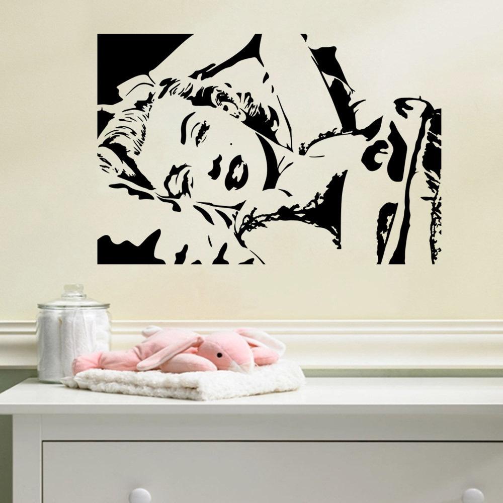beauty character wall sticker removable home decor item bedroom true beauty wall sticker