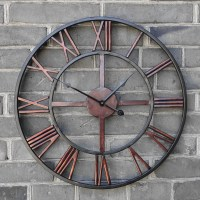 Buy 2016 Oversized Vintage Wrought Iron Wall Clock Large ...