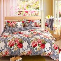 silver bedding sets floral comforter sets cheap bed linen ...
