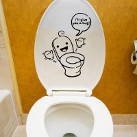 Toilet stickers bathroom wall decals waterproof removable ...