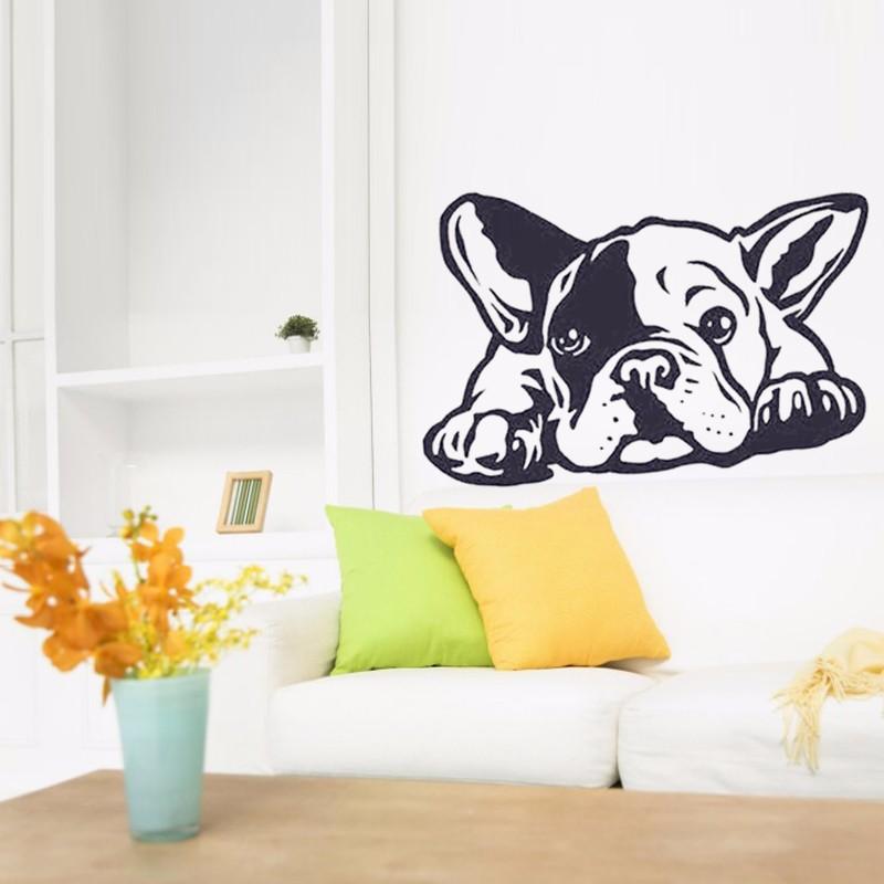 bulldog dog wall decals vinyl wall sticker home decor art mural art beautiful creative vinyl wall art stickers web graphic design