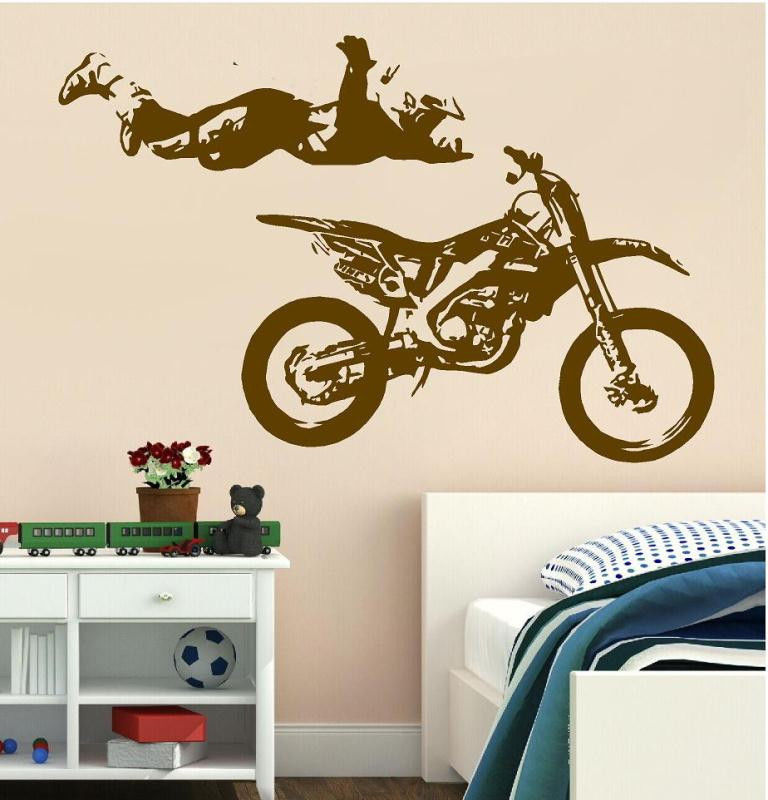 giant bike bicycle sport wall sticker home decor decoration vinyl wall bicycle wall decals bicycle classic basket wall